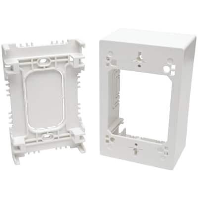 White 1-Gang Keystone Wall Plate (1-Pack)