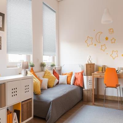 White Cordless Room Darkening 1 in. Aluminum Mini Blind for Window - 39 in. W x 48 in. L