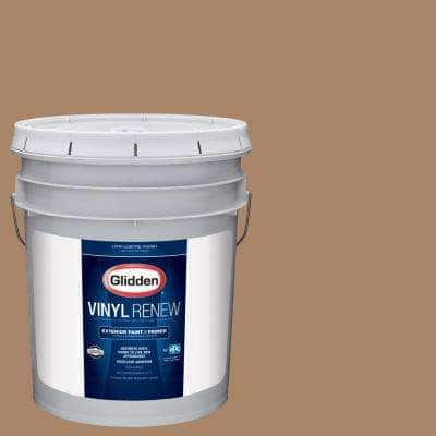 5 gal. #HDGWN21 Gentle Fawn Low-Lustre Exterior Paint with Primer