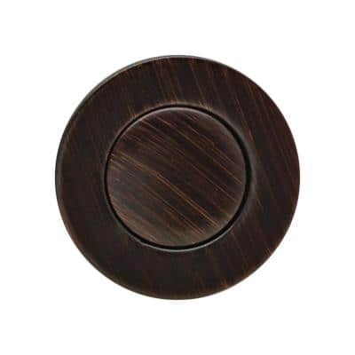 """Bathroom Pop-Up Drain with Ball Rod, Gray ABS Body w/ Overflow, 1.6-2"""" Sink Hole, Oil Rubbed Bronze"""