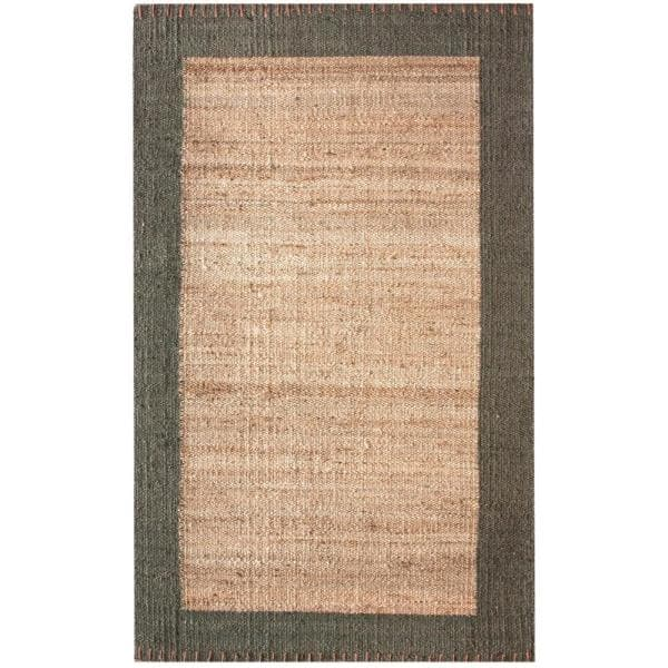 Nuloom Cameron Solid Jute Natural 6 Ft X 9 Ft Area Rug Ncnt02a 609 The Home Depot