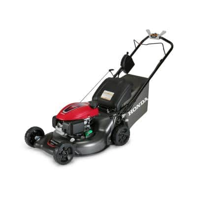 21 in. Steel Deck Electric Start Gas Walk Behind Self Propelled Mower with Clip Director