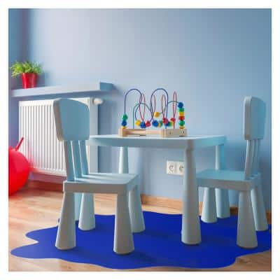 """Floortex® Blue Multi-Purpose Mat for Hard Floors - 40"""" x 40"""""""