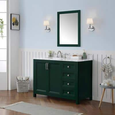 Green Bathroom Vanities Bath The Home Depot