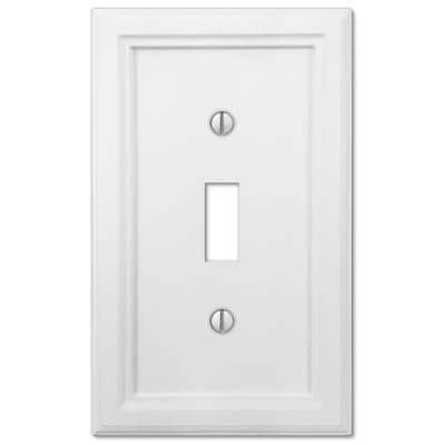 Elly 1 Gang Toggle Composite Wall Plate - White