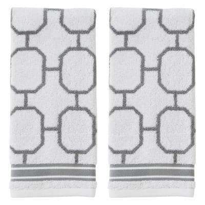 Lithgow Gray 100% Cotton Hand Towel (2-Pack)