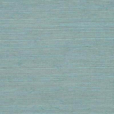 Haiphong Turquoise Grasscloth Wallpaper Sample