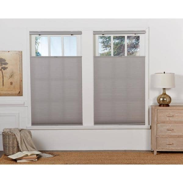 Perfect Lift Window Treatment Cut To Width Gray Cloud 1in Cordless Light Filter Top Down Bottom Up Cellular Shade 22 5in W X 72in L Qglg224720 The Home Depot