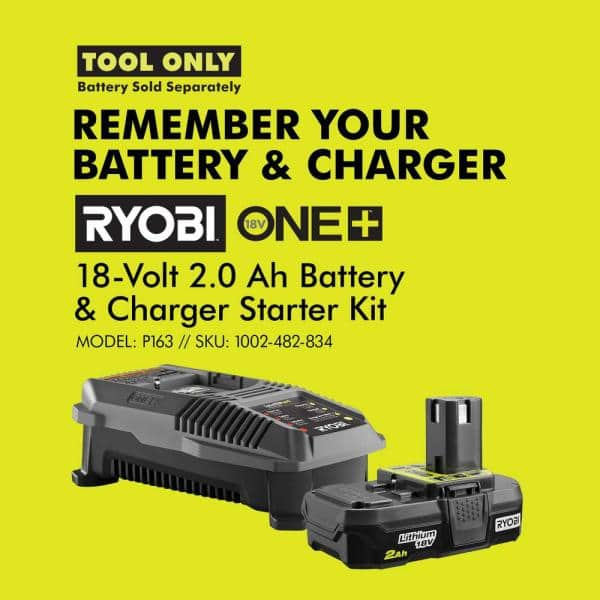 Angle Grinder RYOBI 18-Volt ONE Cordless 4-1//2 In Tool-Only