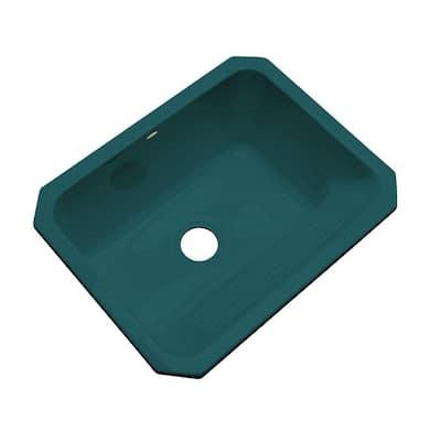 Kensington Undermount Acrylic 25 in. Single Bowl Utility Sink in Teal
