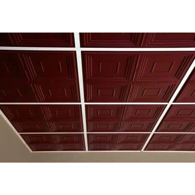 Jackson Merlot 2 ft. x 2 ft. Lay-in or Glue-up Ceiling Panel (Case of 6)