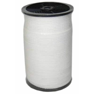 1/4 in. x 1000 ft. Hollow Braid Polypro Rope in White