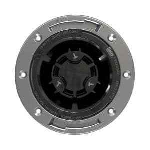 Fast Set 3 in. ABS Hub Spigot Toilet Flange with Test Cap and Stainless Steel Ring
