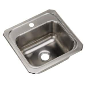 Celebrity 20 Gauge Stainless Steel 15 in. x 17 in. 1-Hole Drop-in Bar Sink