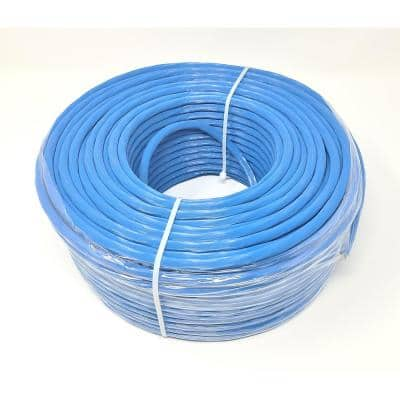 250 ft. CAT 6A Solid STP Bulk Ethernet 23 AWG Cable, Blue