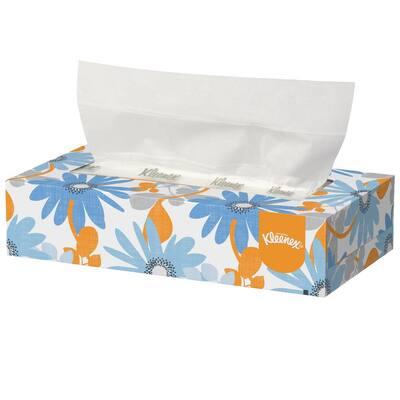 White Facial Tissue 2-Ply Pop-Up Box (125 Sheets per Box, 48 Boxes per Carton)