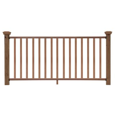 6 ft. Redwood Moulded Rail Kit with SE Balusters