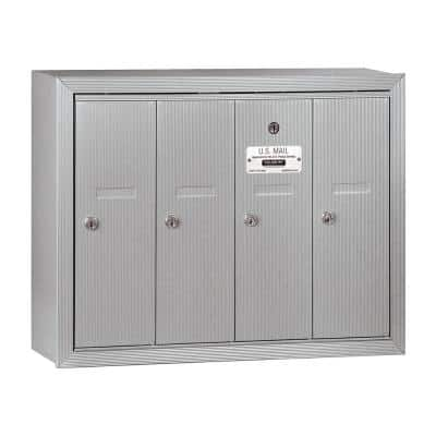 Aluminum Surface-Mounted USPS Access Vertical Mailbox with 4 Door