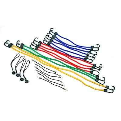 24-Piece Bungee Cord Assortment