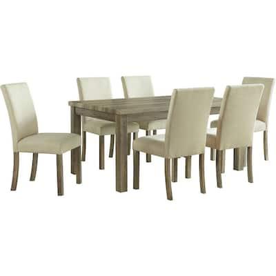 Wyeth 7-Piece Tan Rustic Dining Set