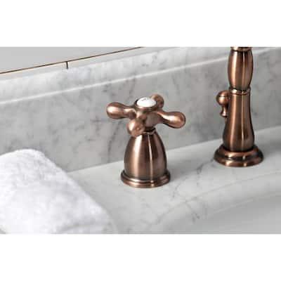 Heritage 8 in. Widespread 2-Handle Bathroom Faucet in Antique Copper