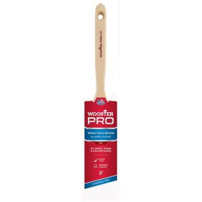 2 in. Pro White China Bristle Angle Sash Brush