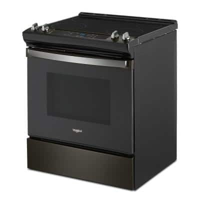 30 in. 4.8 cu. ft. Electric Range in Black Stainless