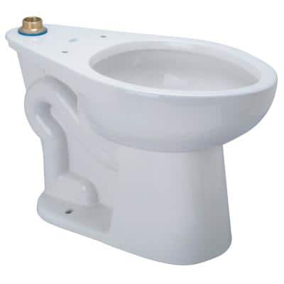 1-Piece 1.1 GPF Single Flush, Elongated Toilet in White Seat Not Included Floor-Mounted