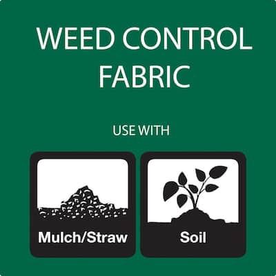 3 ft. W x 300 ft. L Polypropylene Black Weed Barrier Pro