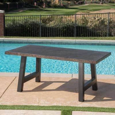 Valencia Brown Stone Outdoor Dining Table