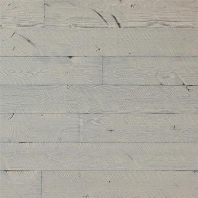 5 in. W x 48 in. L Reclaimed Peel and Stick Solid Wood Wall Paneling (2-Box)