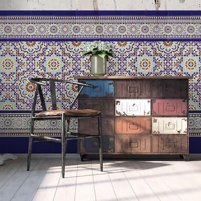 Sevillano Cigarro Cana Azul Cobalto 1 in. x 7-7/8 in. Ceramic Wall Trim Tile