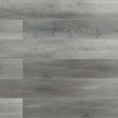Pelican Gray 7 in. W x 48 in. L Rigid Core Click Lock Luxury Vinyl Plank Flooring (23.77 sq. ft./case)