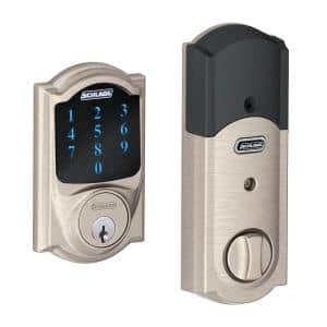 Camelot Satin Nickel Connect Smart Door Lock with Alarm