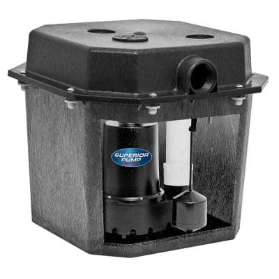 1/3 HP Pre-Assembled Submersible Remote Sink Drain Pump System