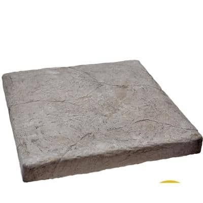 Easy Stack 23 in. x 23 in. x 15/8 in. Gray Manufactured Concrete Hearth/Cap Stone