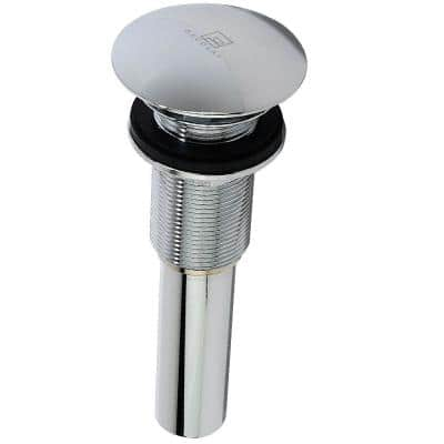 2.953 in. D x 8.625 in. H Umbrella Drain without Overflow in Chrome Polished