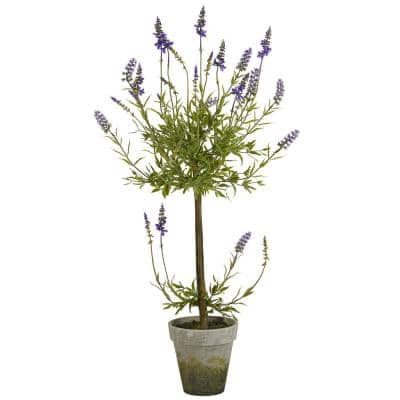 34 in. Lavender Topiary Artificial Tree