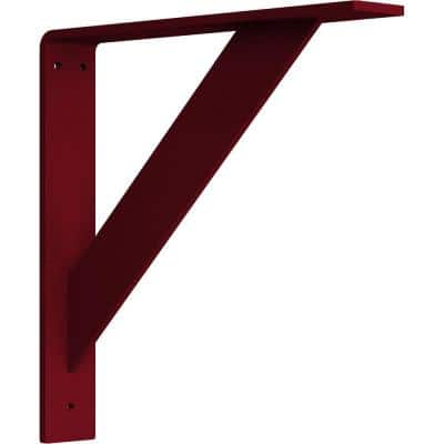 2 in. x 12 in. x 12 in. Steel Hammered Bright Red Traditional Bracket
