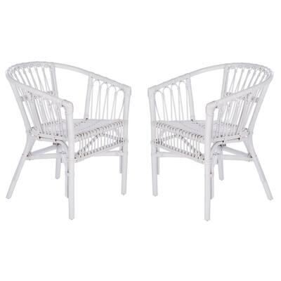 Adriana White Arm Chair