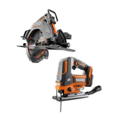 18V OCTANE Brushless Cordless 2-Tool Combo Kit with 7-1/4 in. Circular Saw and Jig Saw (Tools Only)