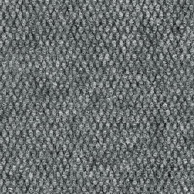 Century - Color Gray Wood 6 ft. Indoor/Outdoor Pattern Carpet