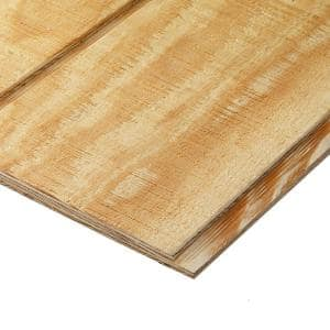 Plywood Siding Panel T1-11 8 IN OC (Nominal: 19/32 in. x 4 ft. x 8 ft. ; Actual: 0.563 in. x 48 in. x 96 in. )