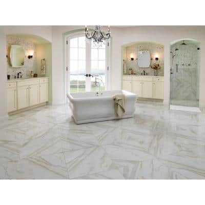 Calacatta 24 in. x 24 in. Matte Porcelain Floor and Wall Tile (16 sq. ft./Case)