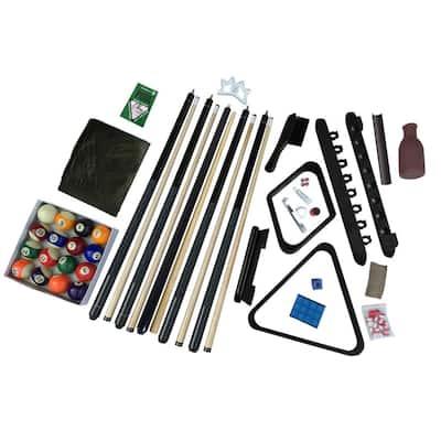 Deluxe Billiards Accessory Kit in Black