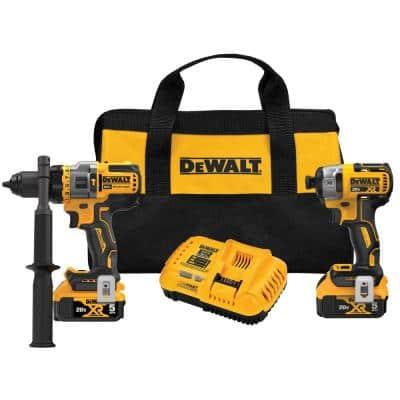 20-Volt MAX Lithium-Ion Cordless Combo Kit (2-Tool) with Two Batteries 5.0 Ah, Charger and Bag