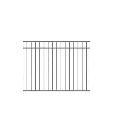 Natural Reflections Standard-Duty 4-1/2 ft. H x 6 ft. W Pewter Aluminum Pre-Assembled Fence Panel