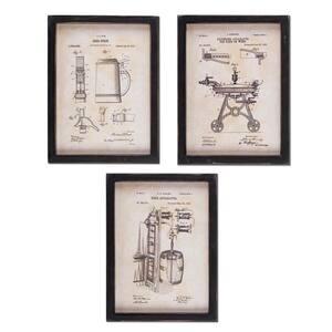 Wooden Beer Patent Prints (Set of 3)
