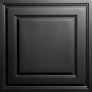 Stratford Black Feather-Light 2 ft. x 2 ft. Lay-in Ceiling Panel (Case of 10)