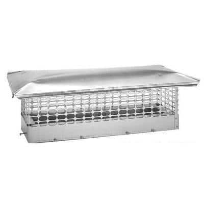 13 in. x 28 in. Adjustable Stainless Steel Chimney Cap